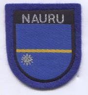 NAURU -  Blazon, Coat Of Arms, Patch, D 7 X 6 Cm - Ecussons Tissu