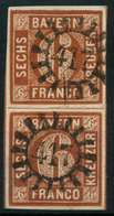 BAYERN QUADRATE Nr 4II GMR 417 Zentrisch Gestempelt SENKR PA X882516 - Bayern