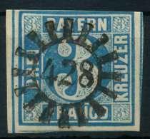 BAYERN QUADRATE Nr 2II GMR 428 Zentrisch Gestempelt X882592 - Bavière