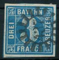 BAYERN QUADRATE Nr 2II GMR 437 Zentrisch Gestempelt X88260A - Bavière