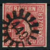 BAYERN QUADRATE Nr 9 GMR 449 Zentrisch Gestempelt X882672 - Bavière