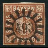 BAYERN QUADRATE Nr 4II GMR 493 Zentrisch Gestempelt X883EF2 - Bayern