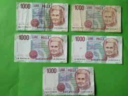 1000 Lire Montessori Per 5 - [ 2] 1946-… : Républic