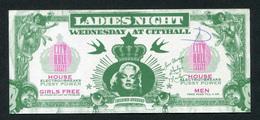 """Marilyn Monroe - Billet D'entrée Au """"Ladies Night"""" Dancing à Barcelone Représentant Un Billet D'un Dollar - Barcelona - [ 8] Fictifs & Specimens"""