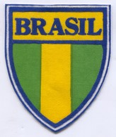 BRASIL -  Blazon, Flag, Patch, D 10 X 8.5 Cm - Ecussons Tissu