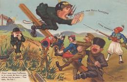 Le Mans. Carte Satirique. Atelier D'Art Photographie J. Bouveret. Calendrier 1917 - Le Mans