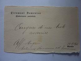 """Cartoncino Da Visita """"CIRAMANI DOMENICO Fabbricante Pantofole VARALLO"""" 1941 - Cartoncini Da Visita"""