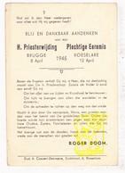 Devotie - Priesterwijding EH Roger Doom / Brugge Roeselare 1945 / Moeskroen Diksmuide Dadizele /J. Speybrouck - Santini