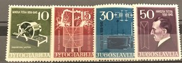 Yugoslavia, 1956,  Mi: 791/94 (MNH) - 1945-1992 República Federal Socialista De Yugoslavia