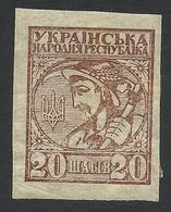 Ukraine, 20 Sh. 1918, Scott # 2, Mi # 2, MH - Ukraine