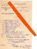 Marçay (86 ) Militaria 39-45 ;chateau De La Badonniere :Service Des Réfugiés(de La Moselle !) +carte Du Chateau - 1939-45