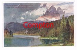 416 E.H.Compton Misurina See 3 Zinnen Künstlerkarte - Ohne Zuordnung