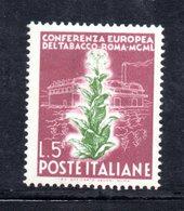 XP3104 - REPUBBLICA 1950 ,  5 Lire N. 629 ***  Tabacco.Filigrana Lettere 7/10 - 6. 1946-.. Repubblica