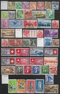 Suisse  Lot De 75 Timbres Oblitérés Entre 1936 Et 1946 Petit Prix - Timbres