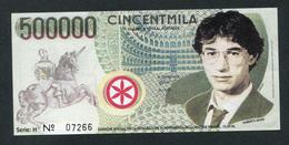 "Billet De Banque 1996 Ligue Du Nord ""500000 Cincentmila - Banca Della Padania Libera E Independente"" Italie - [ 8] Fictifs & Specimens"