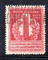 XP3101 - REPUBBLICA 1949 ,  20 Lire N. 611  Usato.  Volta 14 1/4  .Filigrana Lettere - 6. 1946-.. Repubblica