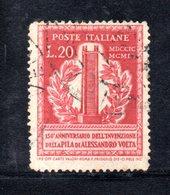 XP3088 - REPUBBLICA 1949 ,  20 Lire N. 611  Usato.  Volta 14 1/4  .Filigrana Lettere - 6. 1946-.. Repubblica