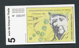 """Billet De Banque Régional Specimen """"5 Euro / Crouy-en-Thelle - 1996"""" Oise - Picardie - Banknote - EURO"""