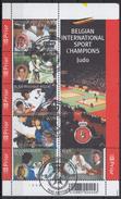 BELGIQUE 2005 Nº 3392/97 EN HB USADO 1º DIA - Bloques 1962-....