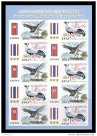 North Korea 2015 Mih. 6203B/04B Fauna. Birds (M/S) (imperf) (joint Issue North Korea-Thailand) MNH ** - Korea, North