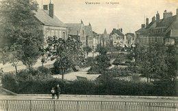 VIERZON - Le Square Soldat 134 ème Régiment écrit à Septfonds Cachet Militaire Gare - Vierzon