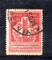XP3087 - REPUBBLICA 1949 ,  20 Lire N. 611  Usato.  Volta 14 1/4  .Filigrana Lettere - 6. 1946-.. Repubblica