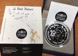 """Cote 150 € Au Leuchtturm 2019 Pièce MDP 10 € Argent 99,9% Belle Epreuve """"Petit Prince St Exupery"""" + Coffret, Certificat - France"""
