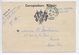 1939 - CARTE FM Du 215° REGIMENT REGIONAL à JUVISY SUR ORGE => NIORT - Poststempel (Briefe)