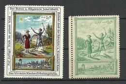 Germany Ca 1910 Wormser Kinder-Erholungsheim Kurort For Children Licht & Luft Vignetten Werbemarken MNH - Vignetten (Erinnophilie)