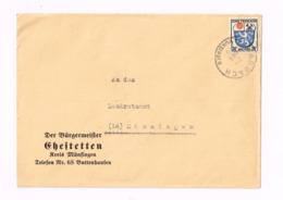 Lettre De Arbach à Münsingen. - Zona Francese