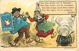 -ref-A964- Publicite - Margarine Astra - Cuisine - Limousin - Auvergne -  Illustrateur Raoul Vion - Illustateurs - - Publicité