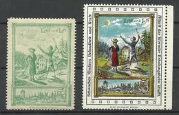 Germany Ca 1910 Wormser Kinder-Erholungsheim Kurort For Children Licht & Luft Vignetten Werbemarken MNH - Erinofilia