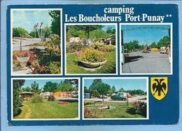 """Chatelaillon-Plage (17) Camping """"Les Boucholeurs - Port-Punay"""" Propr. Moreau René 2 Scans Blason - Châtelaillon-Plage"""