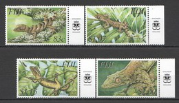 C445 FIJI FLORA & FAUNA REPTILES GECKO #1048-51 !!! MICHEL 10,5 EURO !!! 1SET MNH - Reptiles & Amphibians