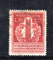 XP3085 - REPUBBLICA 1949 ,  20 Lire N. 611  Usato.  Volta 14 1/4  .Filigrana Lettere - 6. 1946-.. Repubblica