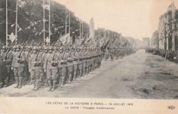* MILITARIA ***   PARIS  Les Fêtes De La Victoire Le Défilé Les Troupes Américaines Neuve TTB - Manoeuvres