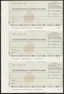 Portugal Cheque Bancaire 1987 Feuille De 3 Banco Pinto & Sotto Mayor Lisbonne Lisboa Lisbon Bank Check Sheet Of 3 - Chèques & Chèques De Voyage