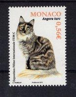 697955008 MONACO 2013 POSTFRIS MINT NEVER HINGED POSTFRISCH EINWANDFREI  SCOTT 2707 TURKISH ANGORA CAT - Monaco