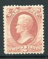 US  O84(*) War Dept  Hinged  1873 - Officials