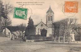 91 SOISY SOUS ETIOLLES Place De  L'Eglise Et Rue Galignani - France