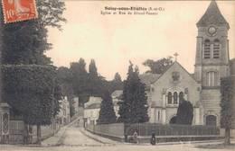91 SOISY SOUS ETIOLLES Eglise Et Rue Du Grand Veneur - France