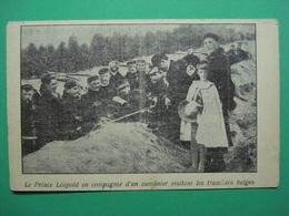Royal Prins Leopold En Compagnie D'un Aumonier Vivitant WW1 - Belgique