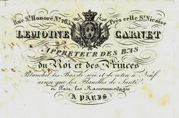 1829 PARIS Rue St Honoré LEMOINE CARNET Apprêteur De Bas Du Roi Et Des Princes Voir Historique Sur Ce Métier Disparu - France