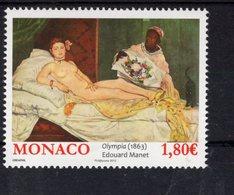 697956886 MONACO 2013 POSTFRIS MINT NEVER HINGED POSTFRISCH EINWANDFREI  SCOTT 2704 OLYMPIA BY EDOUARD MANET PAINTING - Mónaco