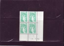 N° 1967 -0,20F Sabine De GANDON - 10° Tirage/2° Partie Du 13.7 Au 20.7.79 - PHO à Gauche -13.7.79 - - Dated Corners