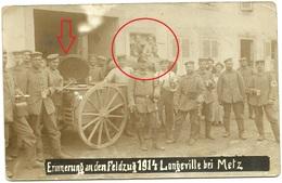 Longeville Les Metz- Feldküche-allemande  Photo Carte-guerre 14 -18 - Metz