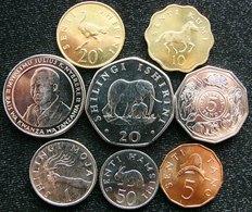Tanzania Set  5 10 20 50 Cent 1 5 10 20 Shilling - Tanzanie