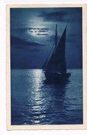 Cartolina - Postcard / Viaggiata - Sent / Notturno Poetico Con Versi Di Fogazzaro - Pittura & Quadri