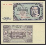 Polen - Poland  20 Zlotych Banknote 1948 Pick 137 Fast XF  (2-)   (22440 - Pologne
