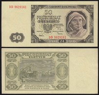 Polen - Poland  50 Zlotych Banknote 1948 Pick 138 XF  (2)  (22437 - Polen